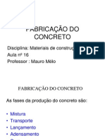 FABRICAÃ-Ã-O DO CONCRETO