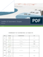 Leaflet of Geometric Shapes