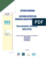 Factores de Exito Empresas Asociativas Rurales Doc Sintesis Bolivia