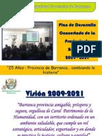 PLAN DE DESARROLLO CONCERTADO 2009-2021 DE LA PROVINCIA DE BARRANCA