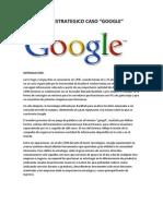 Plan Estrategico Caso Google