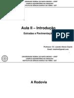 Aula II  - Introdução - Estradas e Pavimentação