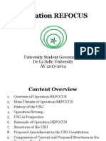 Appendix H - Operation REFOCUS (USG AY 2013-2014)