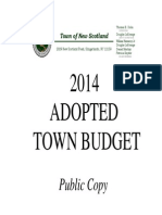 Town of New Scotland 2014 Adopted Budget