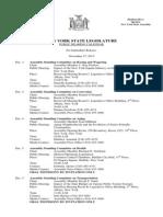 November 27, 2013 - Public Hearing Calendar