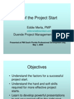 the art of the project start - eddie merla