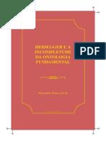 Heidegger e a Incompletude Da Ontologia Fundamental