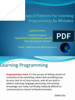 Pedagogical Patterns for Learning Programming by Mistakes (Presentation)