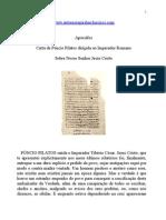 Apócrifos - Carta de Pôncio Pilatos dirigida ao Imperador Romano