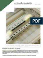 Purpose of Miniature Circuit Breakers MCBs