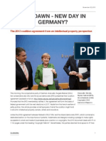 New Dawn New Day - The 2013 German Coalition Agreement From an Intellectual Property Perspective_ChristianWLiedtke