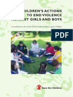 CHILDREN'S ACTIONS TO END VIOLENCE AGAINST GIRLS AND BOYS