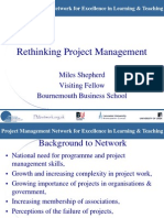Rethinking Project Management
