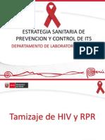 Tamizaje VIH y RPR