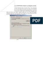How to Display the POPWARE SOFTWARE in Windows Xp (English) Correctly