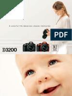 Nikon D3200 Camera Manual