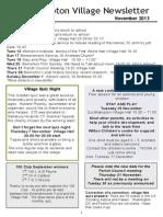Quidhampton Village Newsletter, November 2013