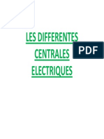 Les Differentes Centrales Electriques Bis Mode de Compatibilite