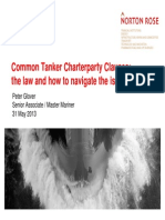 Common Tanker Charterparty Clauses