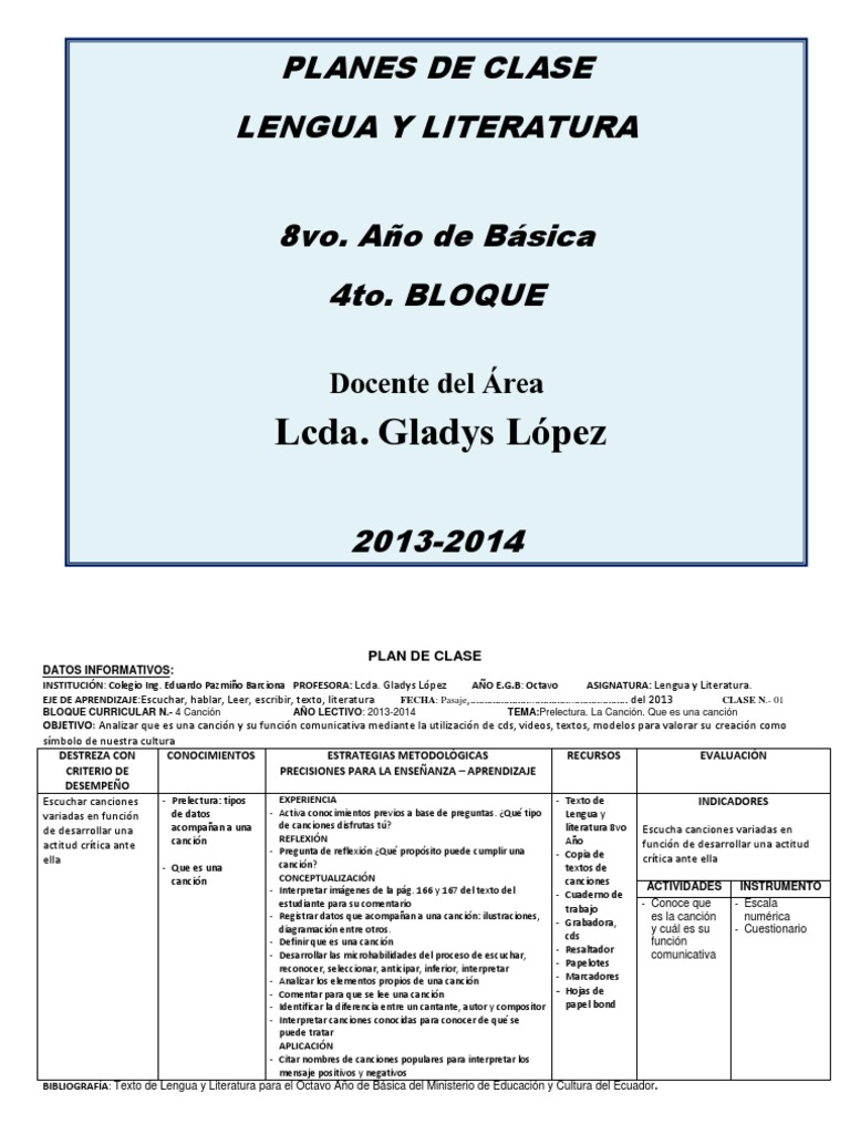 Vistoso Plantilla De Lección Para Profesores Galería - Colección De ...