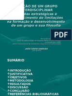 CRIAÇÃO DE UM GRUPO INTERDISCIPLINAR