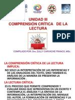 UNIDAD III.  COMPRENSION CRITICA DE LA LECTURA.pptx