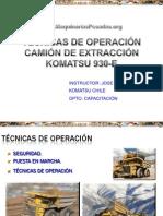 Curso Tecnicas Operacion Camion 930e Komatsu Ok