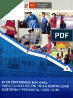 MINSA PEN Reduccion Mortalidad Materna2009 2015