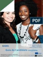 BABEL Guidelines for Applicants 2nd Cohort PT