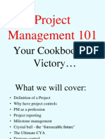 Project Management 101 Your Cookbook for Success