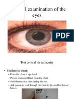 Physical Examination of the Eyes