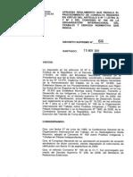 Chile. Decreto 66 Irregular Reglamento de Consulta Indigena