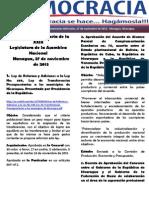 Barómetro Legislativo Diario del miércoles 27 de noviembre de 2013.pdf