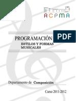 Estilos y Formas Musicales