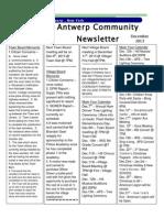 December Newsletter 2013