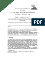 Analytical profile of 4-methylthioamphetamine - Poortman - FSI