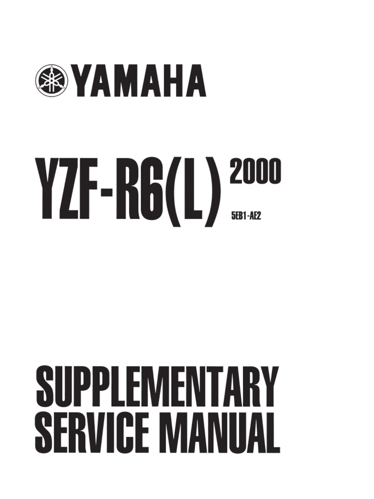 2000 Supp Manual R6 Ignition System Nut Hardware Starter Relay Wiring Diagram