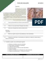 Ficha de avaliação de HGP 2º teste