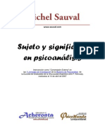 Sujeto y Significante en Psicoanalisis