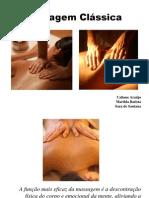 Massagem classica semana de integração