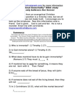Conditional Immortality Bible Study