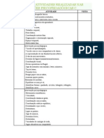MODELO DE ATIVIDADES REALIZADAS NAS INTERVENÇÕES PSICOPEDAGÓGICAS C