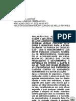 Relator Claudio de Mello Tavares