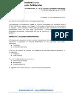 Observaciones al Anteproyecto de Ley de Servicios y Colegios Profesionales