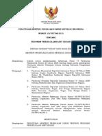 Peraturan Menteri Pekerjaan Umum Republik Indonesia Nomor