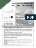 Cargo 30 - Agente Administrativo -Prova Branca