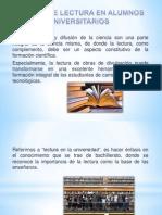 HÁBITOS DE LECTURA EN ALUMNOS UNIVERSITARIOS DE