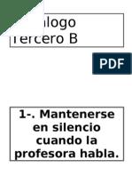 Decálogo Tercero B