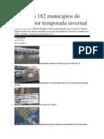 13/11/13 Milenio Alerta en 182 Municipios de Oaxaca Por Temporada Invernal