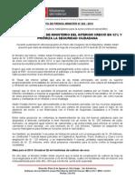 PRESUPUESTO 2014 DE MINISTERIO DEL INTERIOR CRECIÓ EN 32% Y PRIORIZA LA SEGURIDAD CIUDADANA